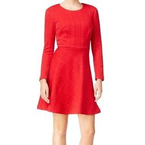 Betsey Johnson Fire Quilted Sheath Dress Red SZ 2